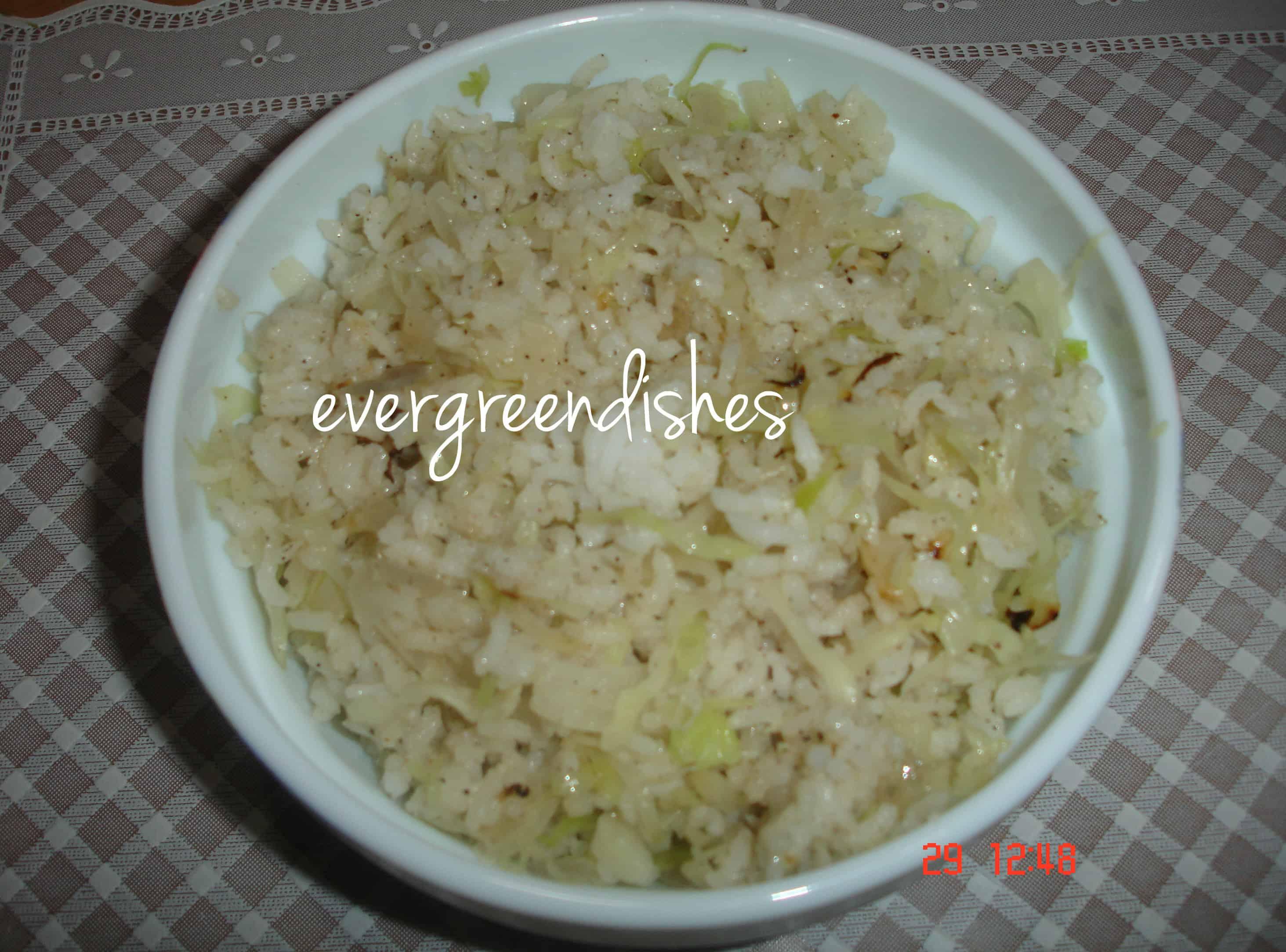 recipe image  Cabbage rice cabbage rice