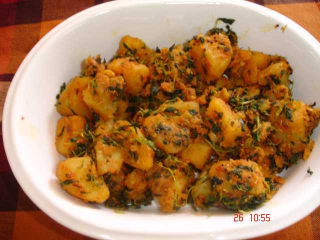 recipe image  Alu Methi | no onion garlic recipe DSC02416