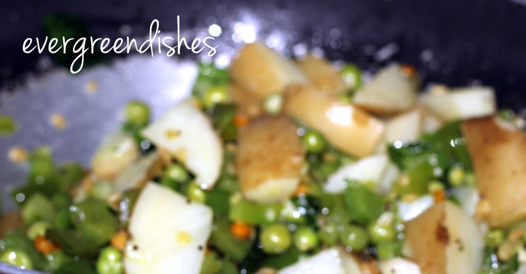 boiled veggies are put  Masala Bhath MB9 1024x534