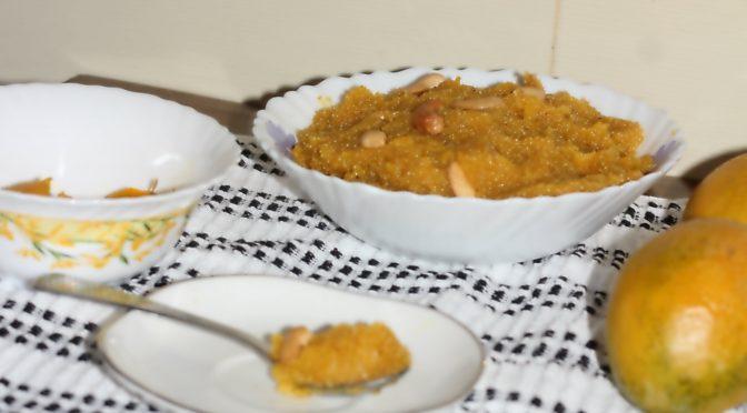 mango sheera mango sheera Mango sheera, Mango kesari, summer treats mango sheera1 672x372