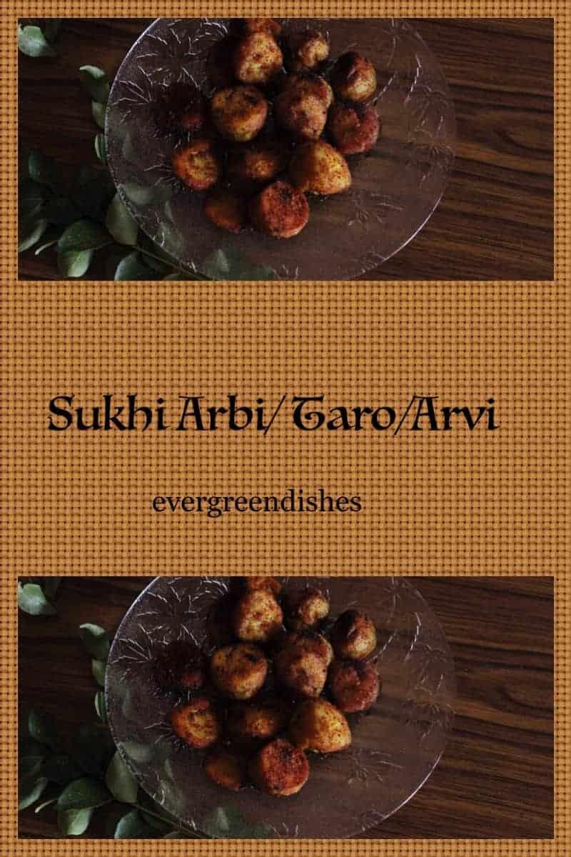 sukhi arbi/ taro/arvi  Sukhi Arbi/ colocosia/ how to make dry arbi stir fry sukhiarbi10