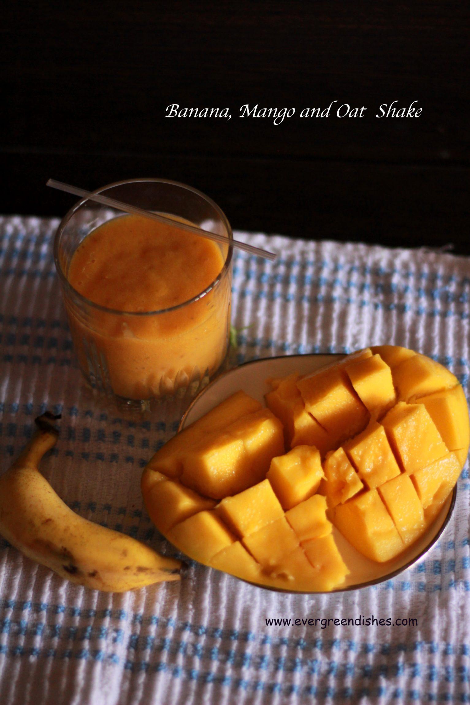 milkshake Banana  Mango Oat Shake banana mango shake 1533x2300